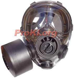 SGE 400/3 gas mask features a drinking system and full polycarbonate face shield