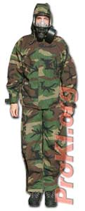 Chemical protective suit - Camo military NBC suit